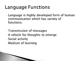 Photo of Language functions