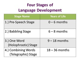 Photo of The 4 stages of language development