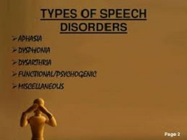 The types of speech disorders