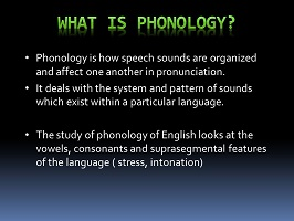 Photo of Phonology